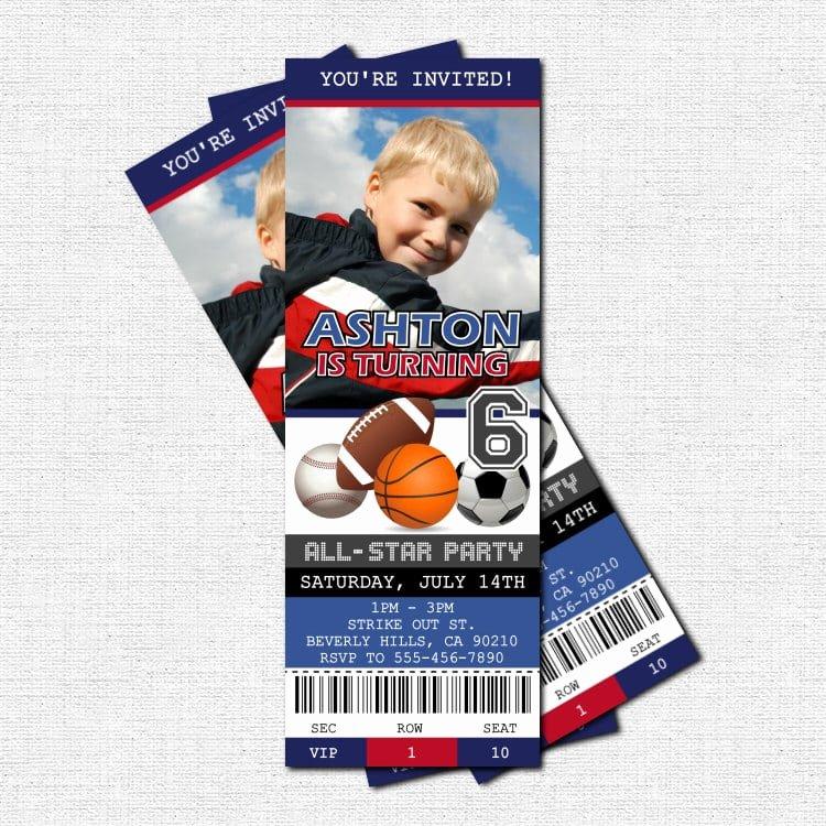 Sports Ticket Invitation Template Free Unique Ticket Birthday Invitation Template Free