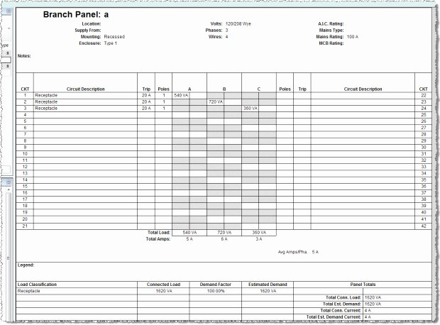 Square D Electrical Panel Schedule Template Unique Electric Panel Schedule Template