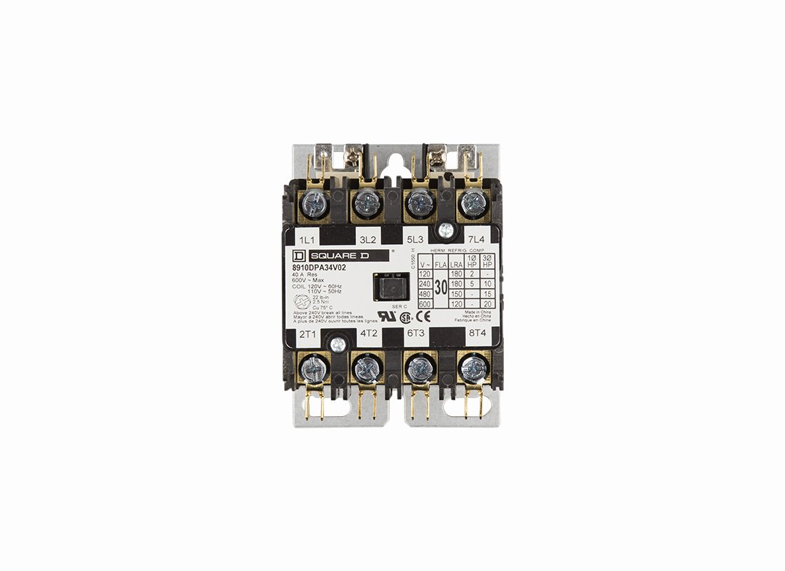 Square D Panel Schedule Awesome Contactor 4 Pole 30 Amp 120 V