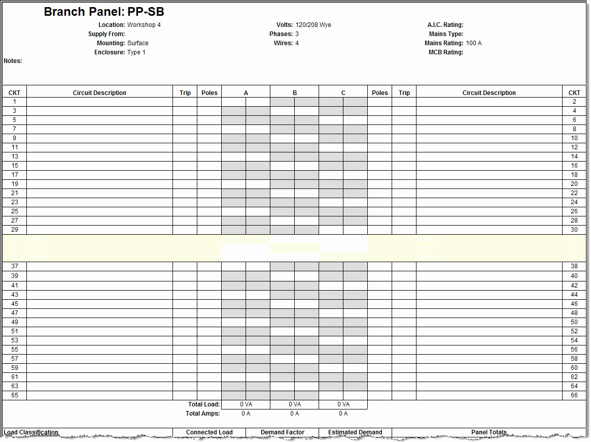 Square D Panel Schedule Unique 23 Of Square D Qo Panel Schedule Template