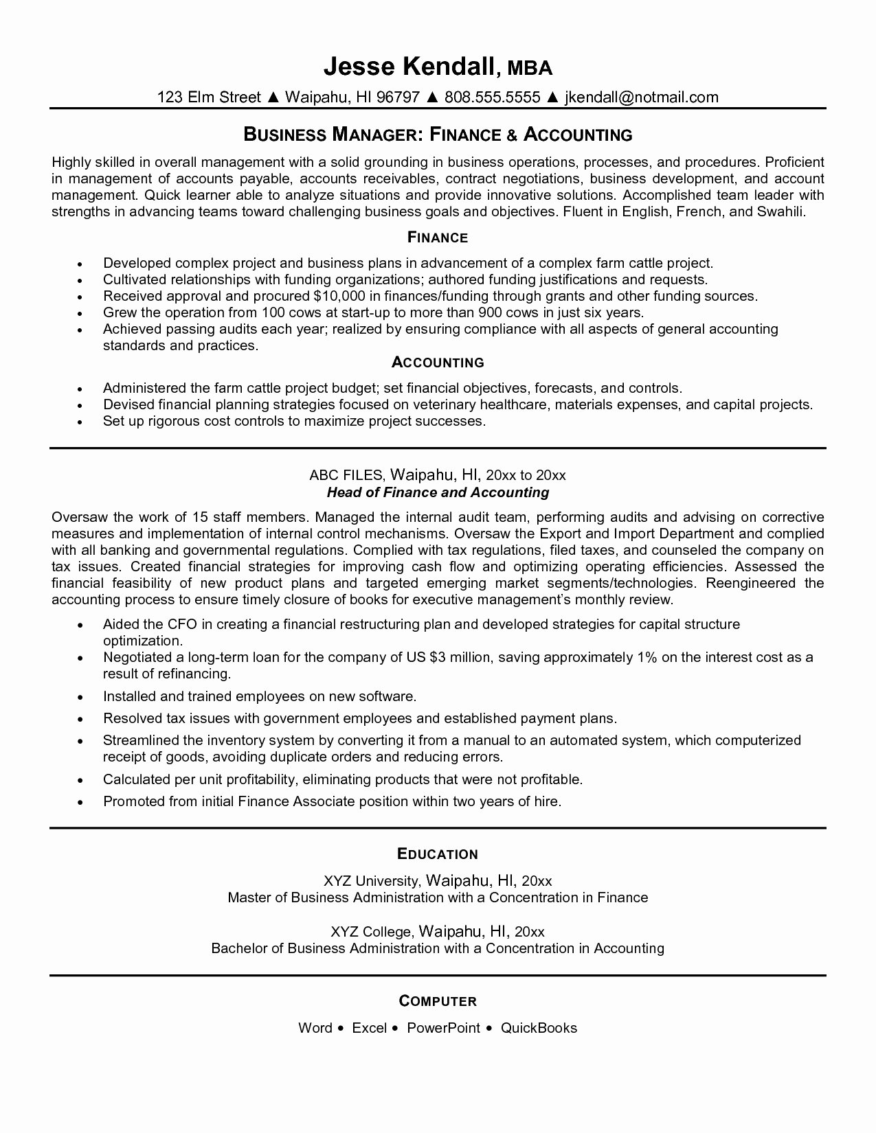Staff Accounting Resume Samples Best Of Staff Accounting Resume Samples