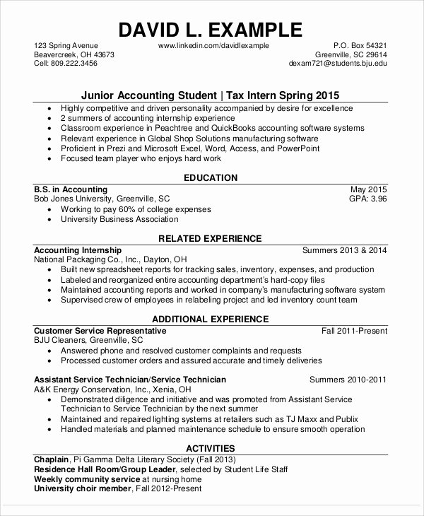 Staff Accounting Resume Samples Lovely 30 Accountant Resume Templates Pdf Doc