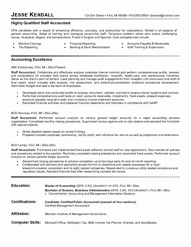 Staff Accounting Resume Samples Lovely Pin by topresumes On Latest Resume