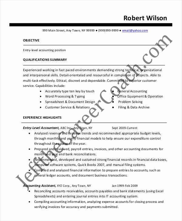 Staff Accounting Resume Samples New 21 Accountant Resume Templates In Pdf