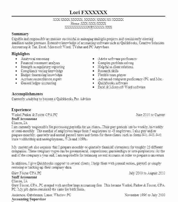 Staff Accounting Resume Samples Unique 15 Payroll Accounting Job Description