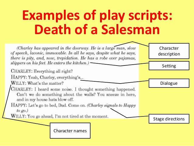 Stage Play format Example Inspirational Play Scripts Teacher as Writer
