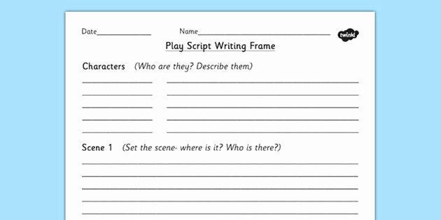 Stage Play format Template Lovely Play for Kids Template Making Plays