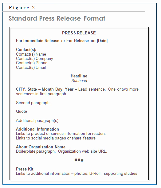 Standard Media Release form Template Elegant Chapter 6 – the Press Release Matthews On Marketing