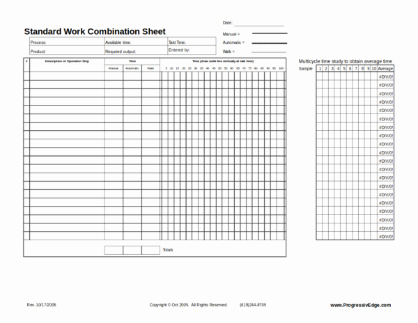 Standard Work Templates Excel Beautiful 10 Standard Worksheet Template – Pdf Word Excel