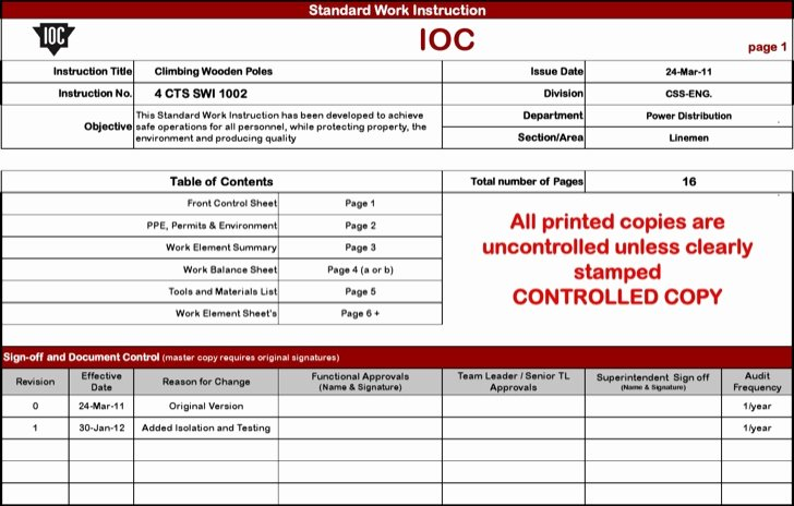 Standard Work Templates Excel Beautiful Standard Work Template Beepmunk