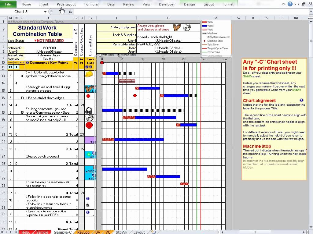 Standard Work Templates Excel Luxury Standard Work Template Examples