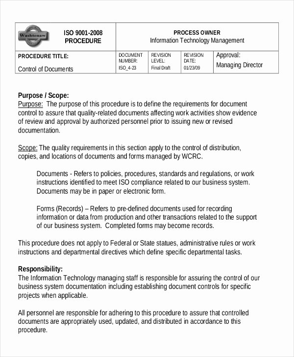 Standardized Work Instructions Templates Beautiful Working Instruction Template 6 Free Word Pdf Document