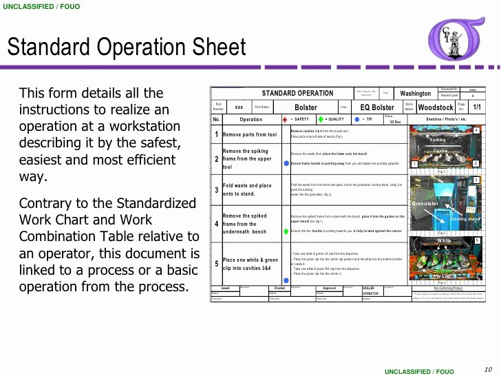 Standardized Work Instructions Templates Luxury Ng Bb 43 Standardized Work