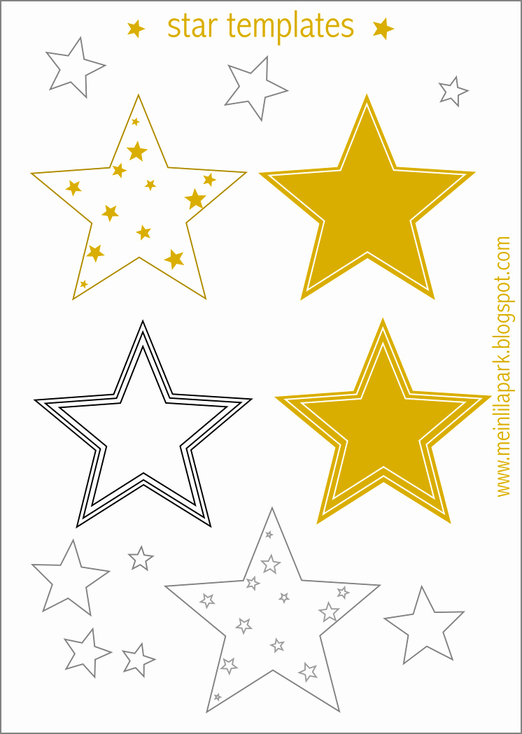 Star Stencil Printable Inspirational Free Printable Star Templates 16 Last Minute Diy