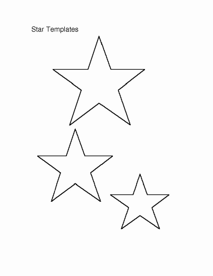 Star Stencil Printable Inspirational Template Of A Star Printable