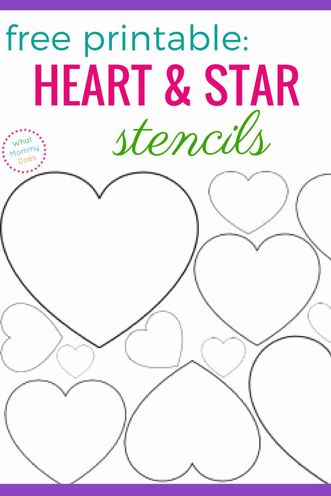 Stars Stencil Printable Inspirational Free Printable Heart Stencils & Star Templates
