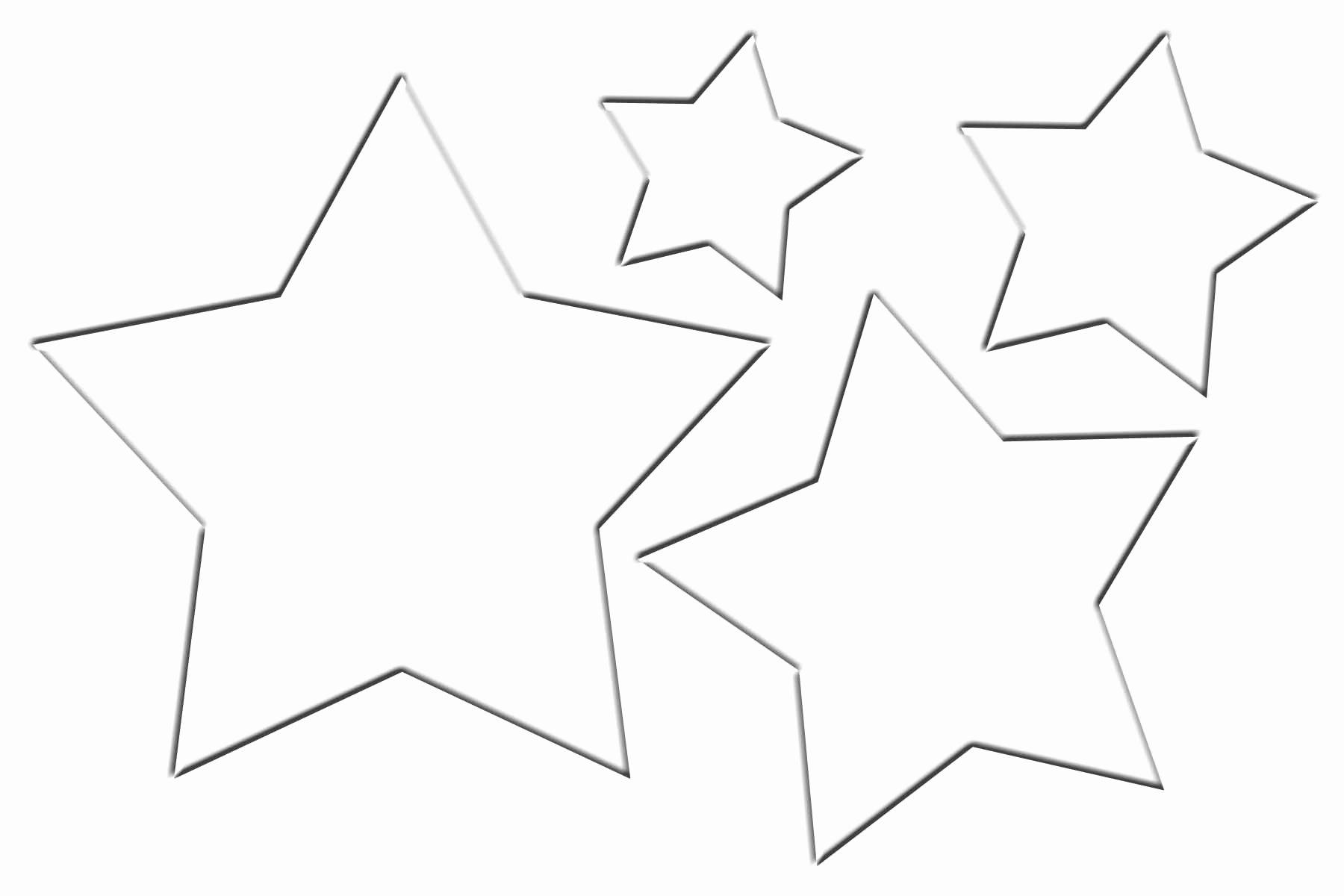Stars Stencil Printable Lovely Christmas Star Template Clipart Best