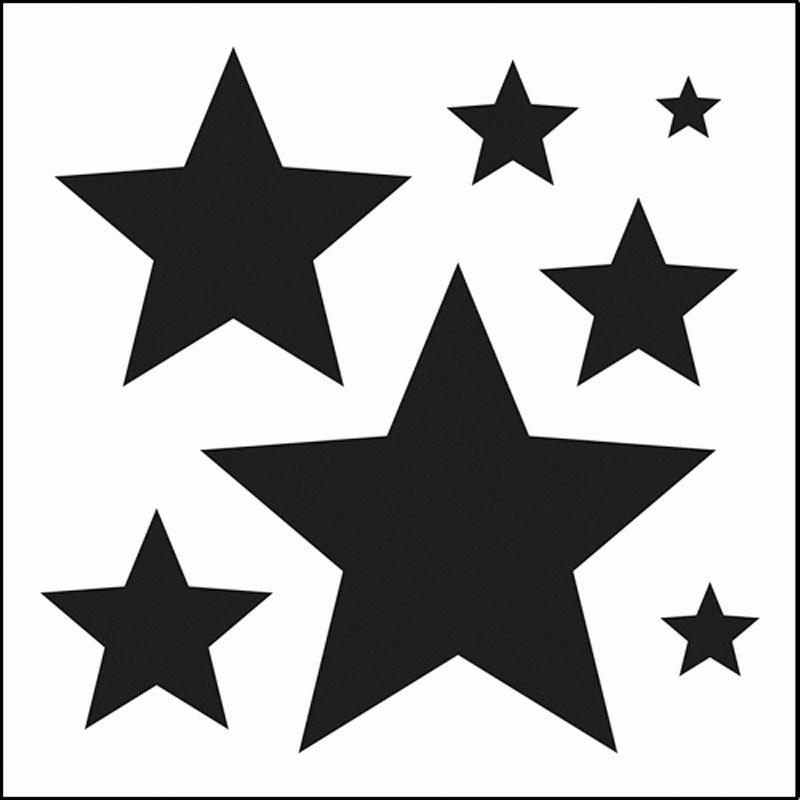Stars Stencil Printable Unique Stars Stencils Clipart Best