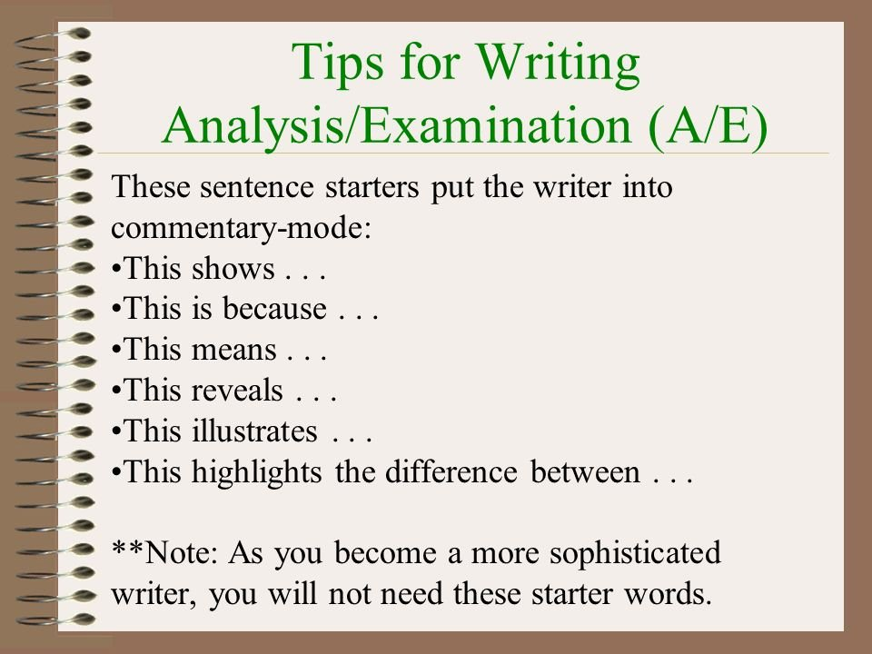 Starter Words for Essays Awesome Writing the Response to Literature Rtl Essay Ppt
