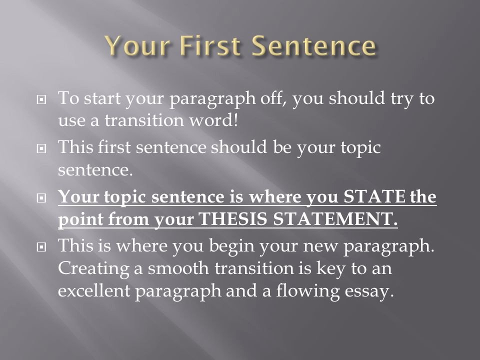 Starter Words for Essays Beautiful the Body Paragraph In Expository Writing Ppt Video