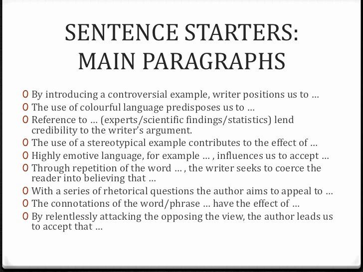 Starter Words for Essays Inspirational Language Analysis Essay Writing