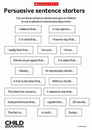 Starter Words for Essays Unique Sentence Starters On Pinterest