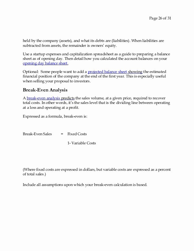 Startup Expenses and Capitalization Spreadsheet Lovely Business Plan for A Startup Business 0 1
