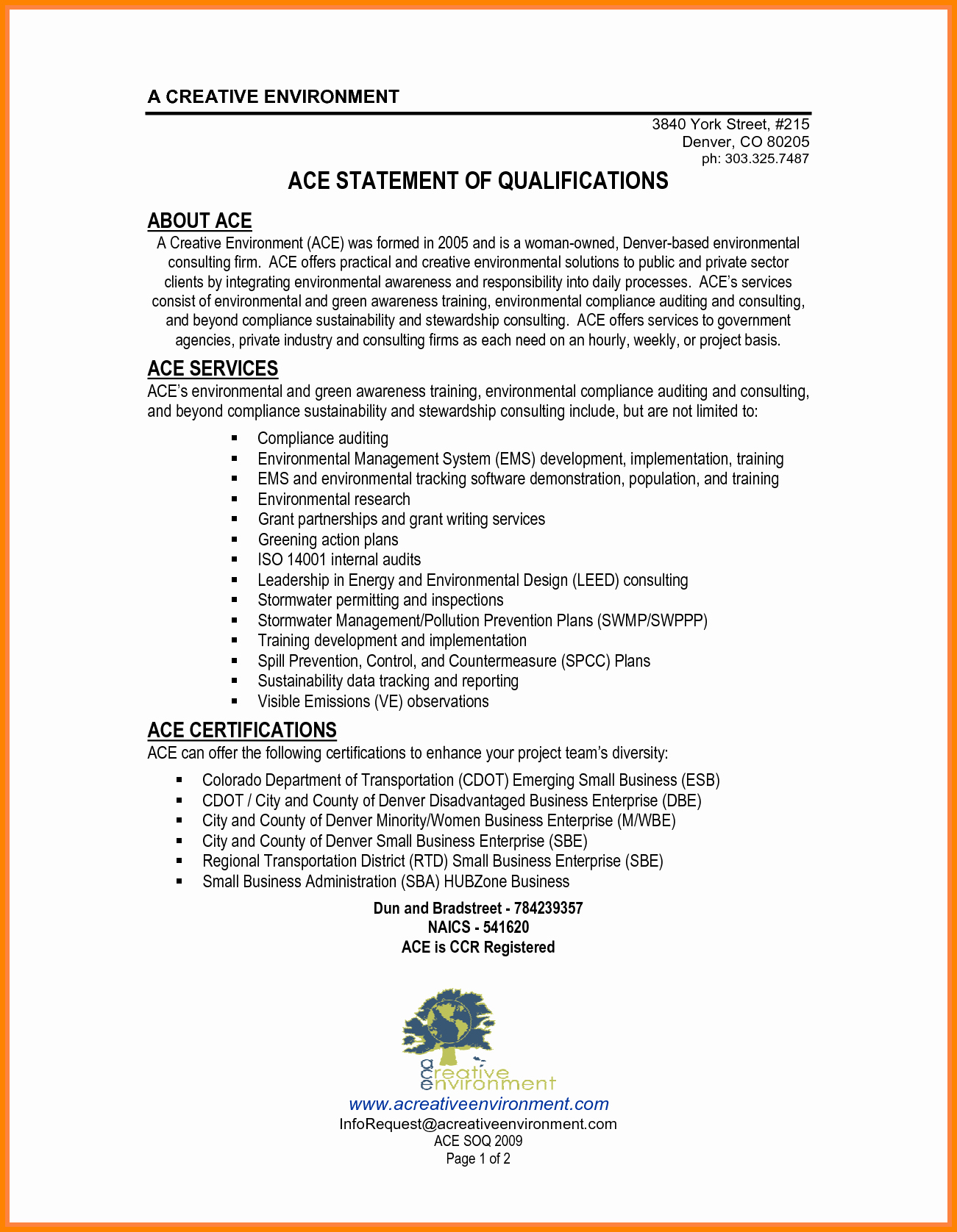 Statement Of Qualifications Template Free Best Of 2 Statement Of Qualification Example
