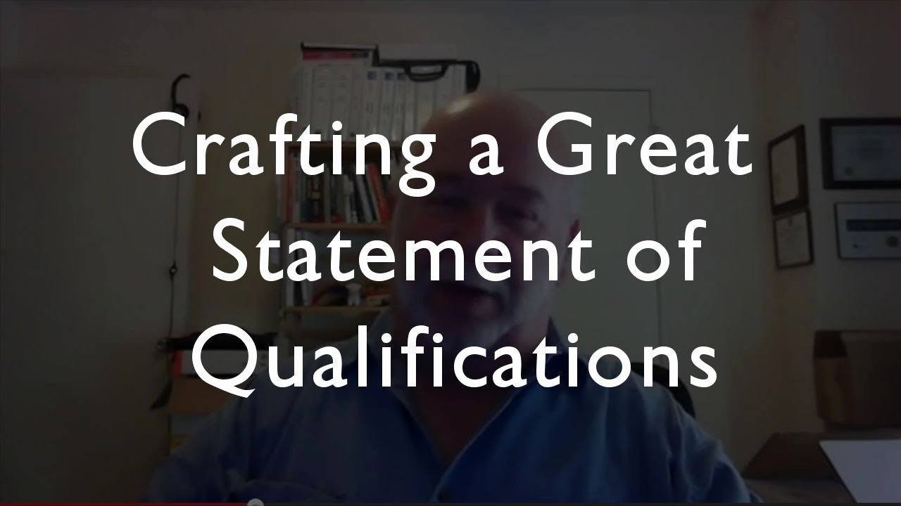 Statement Of Qualifications Template Free Lovely How to Write A Great Statement Of Qualifications