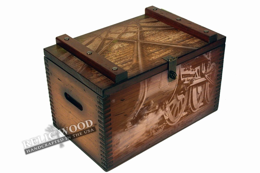 Steam Custom Info Box Art Awesome Steam Train and Tracks Ammo Box
