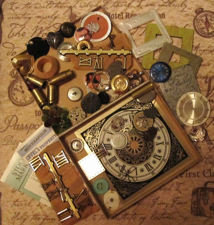 Steam Custom Info Box Art Lovely Cigar Box with Altered Art Steampunk Journaling
