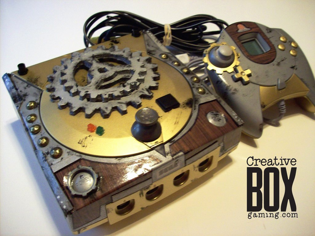 Steam Custom Info Box Art Luxury Steampunk Custom Sega Dreamcast by Creativeboxgaming On