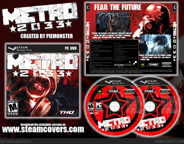 Steam Custom Info Box Art New Metro 2033 Pc Box Art Cover by Piemonster