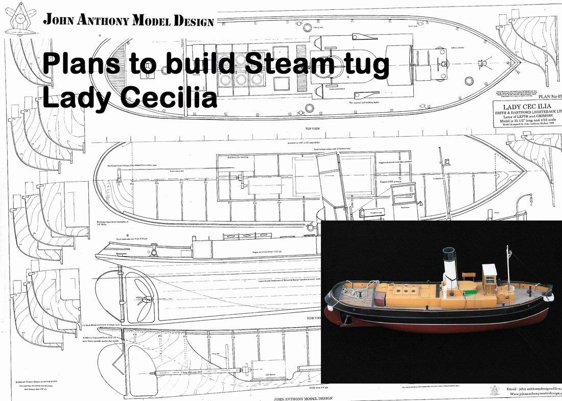 Steam Custom Info Box Template Beautiful R C Tug Boat Plan for the Lady Cecilia Grimsby Steam Tug