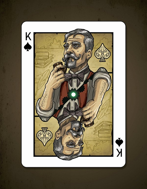 Steam Custom Info Box Template Unique Kickstarter Steampunk Cthulhu Bicycle Playing Cards by