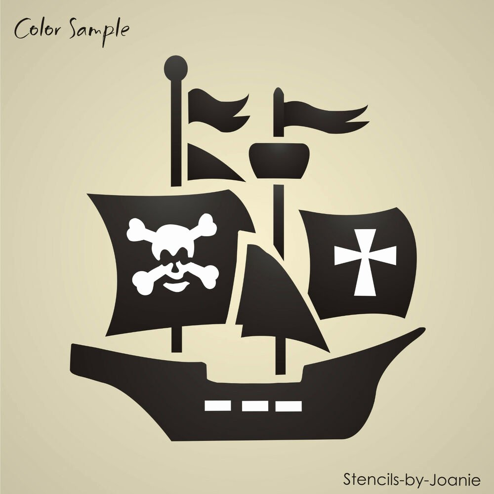 Stencil Templates for Painting Fresh Boy Stencil Pirate Ship Skull Bones Ahoy Matey Iron Cross