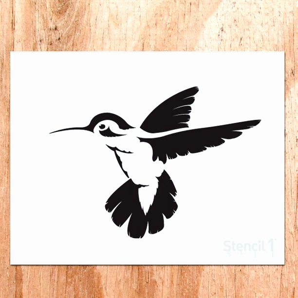 Stencil Templates for Painting Inspirational Hummingbird Stencil