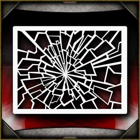 Stencil Templates for Painting Lovely Shattered Glass 2 Airbrush Stencil Template Paint Airsick