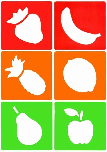 Stencil Templates for Painting Unique 6 Fruit Craft Stencils Pre School Painting & Drawing Pear