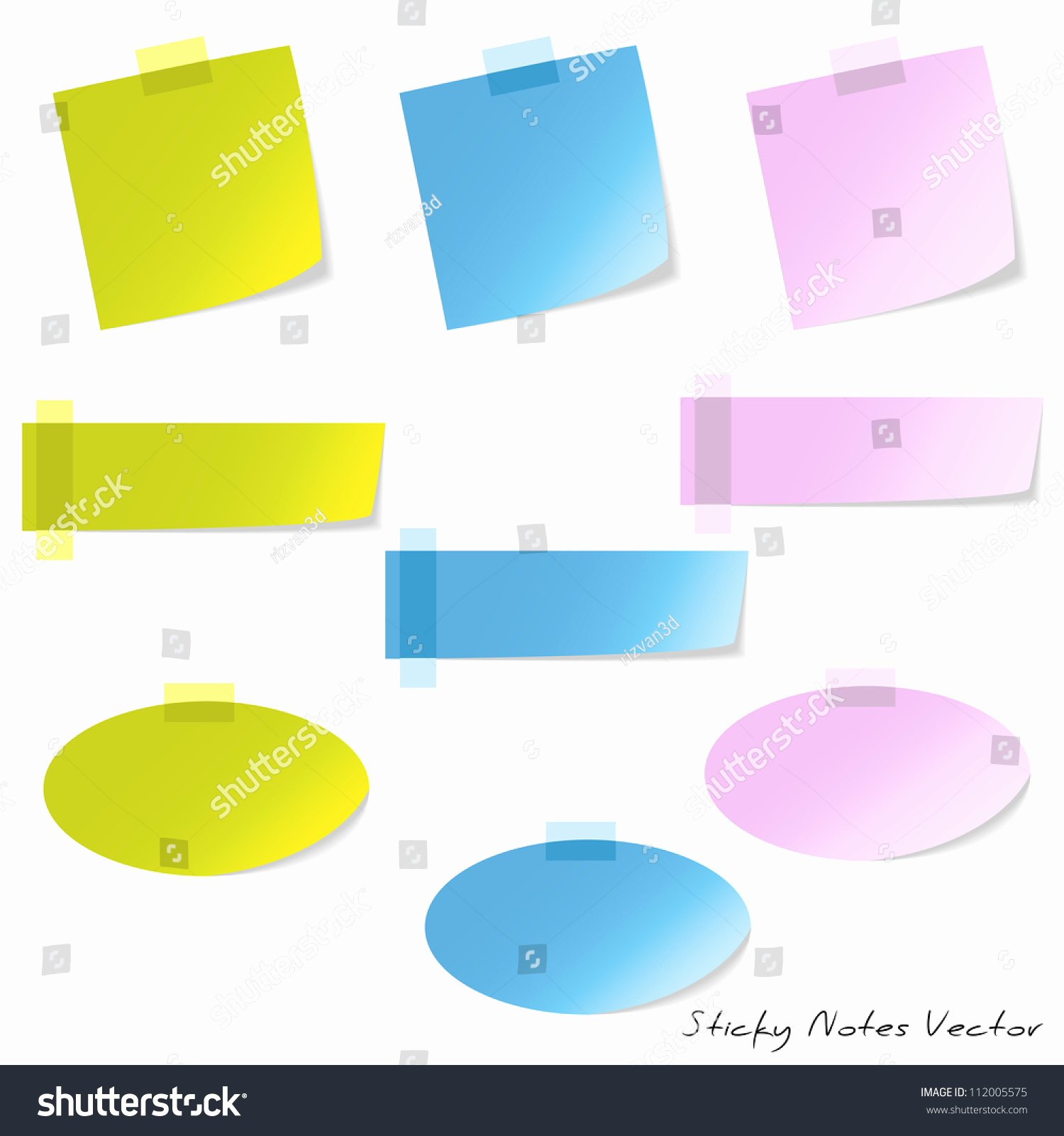 Sticky Notes Vector Awesome Sticky Notes Stock Vector Shutterstock