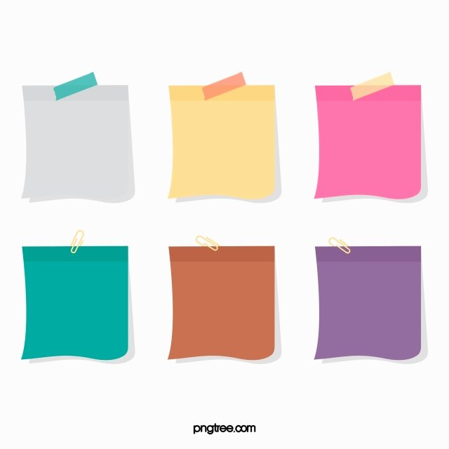Sticky Notes Vector Awesome Vector Color Sticky Notes Hd Vector Cute Sticky Png and