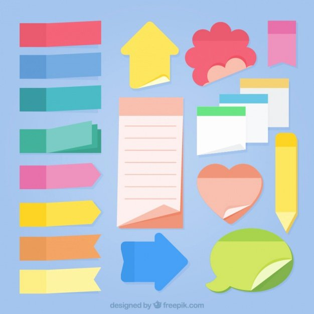 Sticky Notes Vector Best Of Collection Of Sticky Notes Of Different Shapes Vector