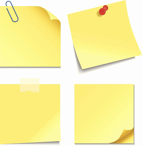 Sticky Notes Vector Best Of Note Pad Clip Art Vector & Illustrations istock