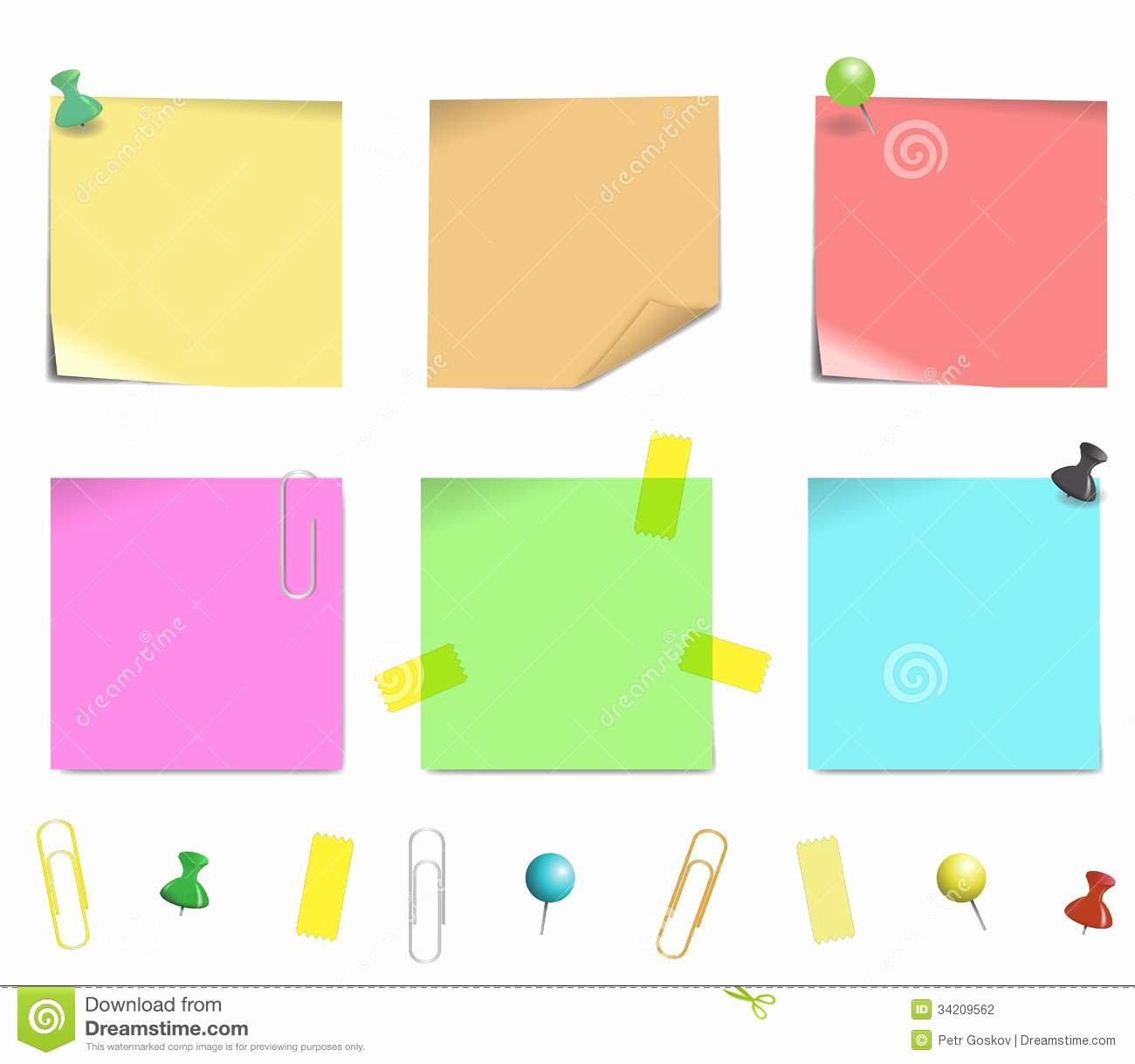 Sticky Notes Vector Best Of Sticky Note Paper Stock Vector Illustration Of isolated