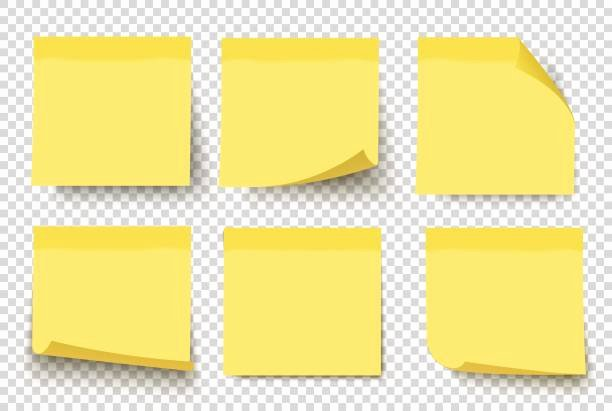 Sticky Notes Vector Elegant Royalty Free Post It Clip Art Vector