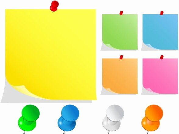 Sticky Notes Vector Elegant Sticky Notes Free Vector 1 472 Free Vector for