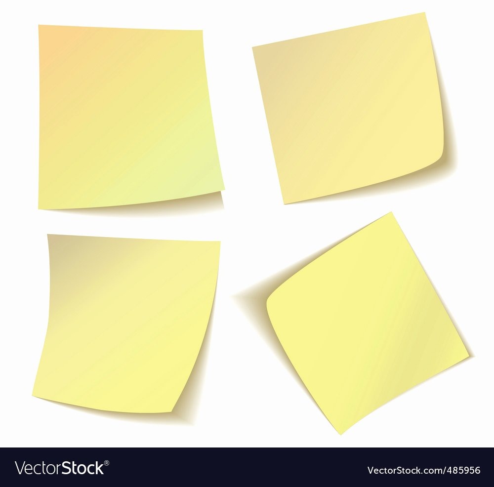Sticky Notes Vector Elegant Sticky Notes Royalty Free Vector Image Vectorstock