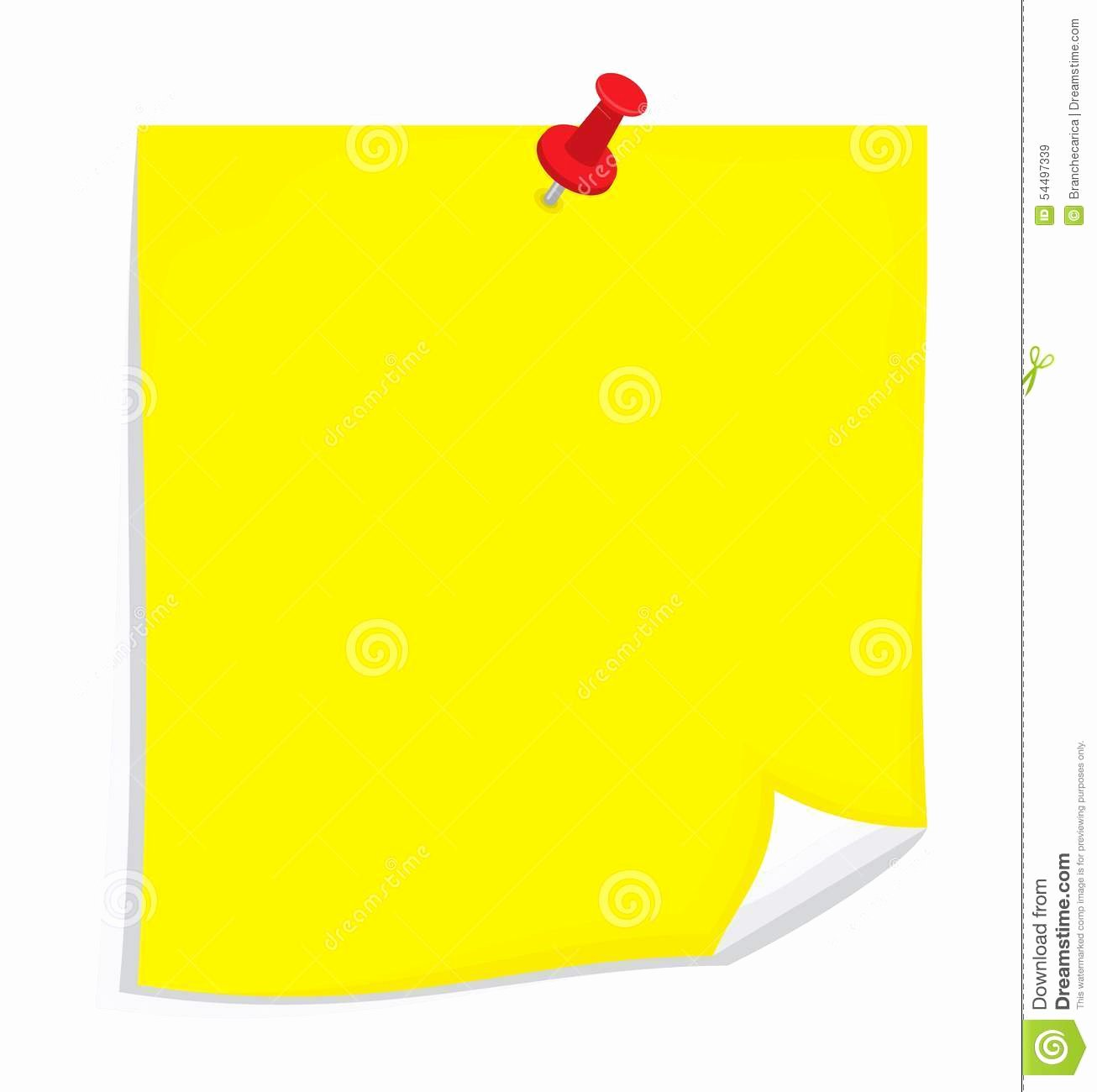 Sticky Notes Vector Elegant Vector Sticky Note Stock Illustration Image