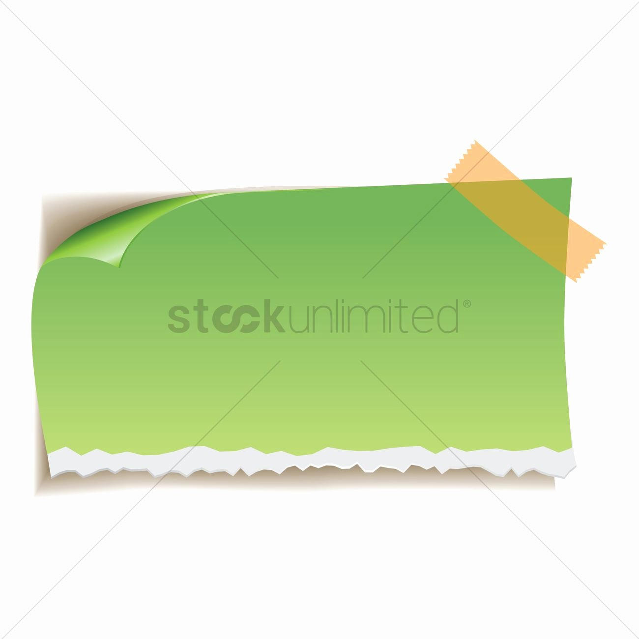 Sticky Notes Vector Fresh Sticky Note Vector Image