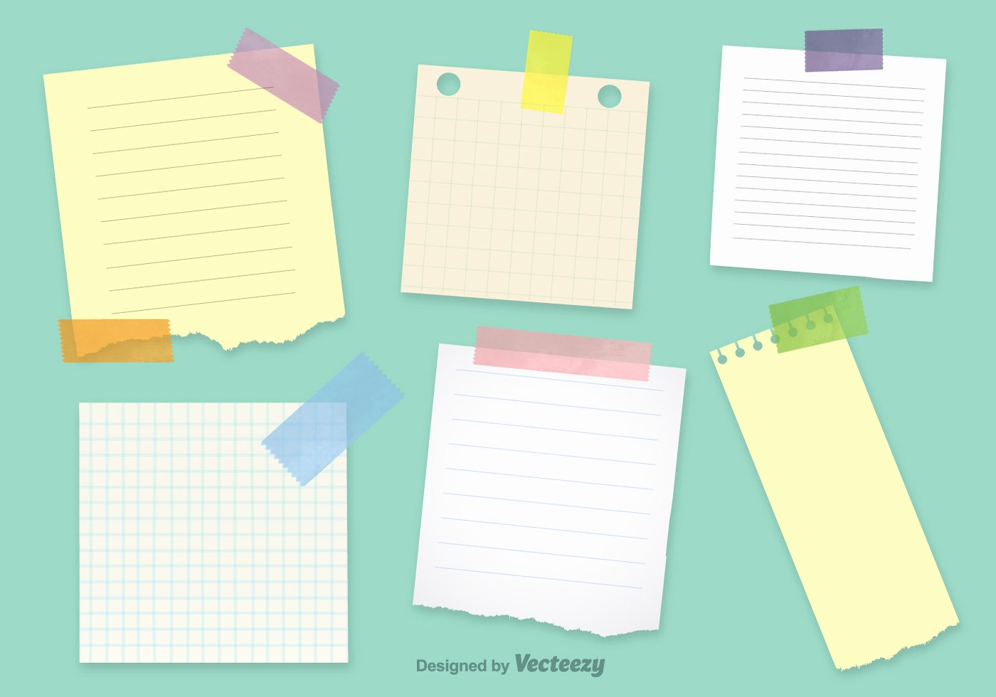 Sticky Notes Vector Inspirational Fice Notepaper Vector Templates Download Free Vector